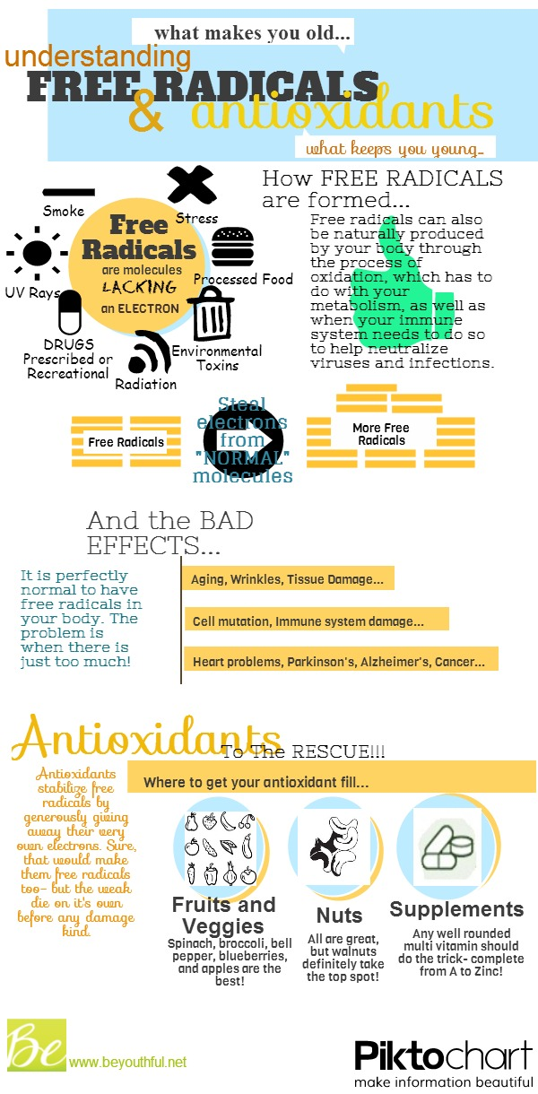 Understanding Free-Radicals and Anti-Oxidant Infographic